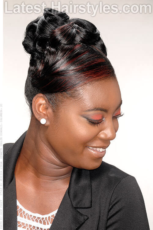 Updo Hairstyles for Black Women with Long Hair