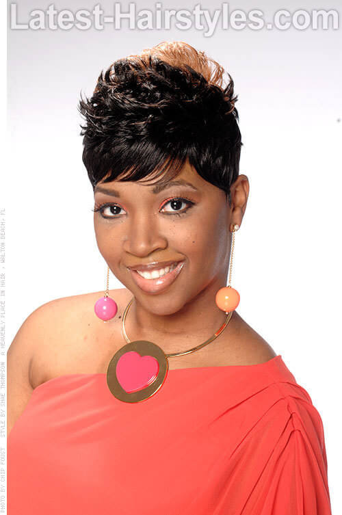 Pixie Cut Short and Sassy Black Hairstyle