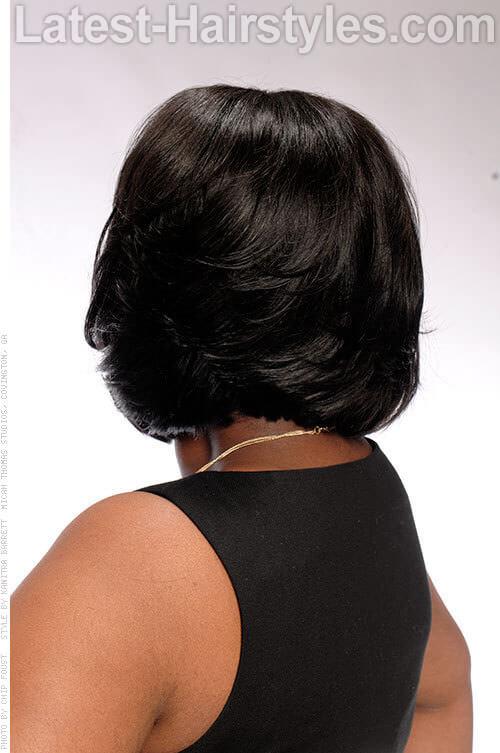 Silk and Shine Pretty Soft Asymmetrical Bob Back View