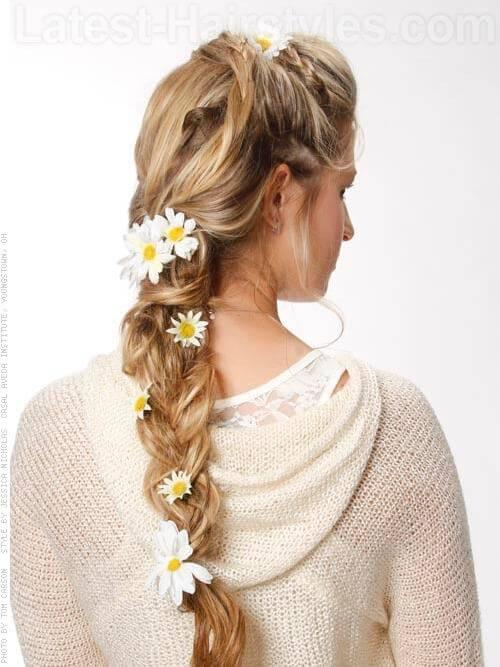 Bohemian Braid Hairstyle Back View