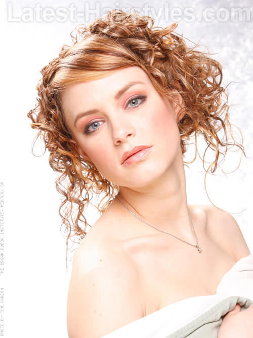 Curly Pinned Up Hairstyle