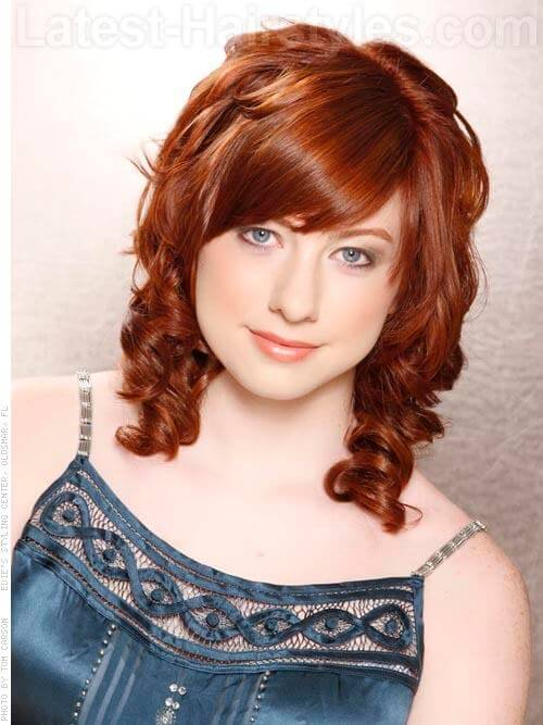 Deep Copper Hair Color with Light Copper Highlights