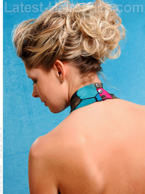 Easy Curly Updo Back