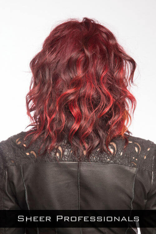 Edgy Medium Hairstyle with Waves Back