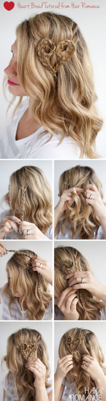 Valentine's Heart Hair Braid Accessory