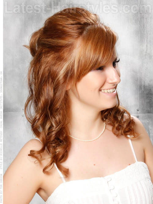 Light Brown Hair Color with Peek-A-Boo Highlights