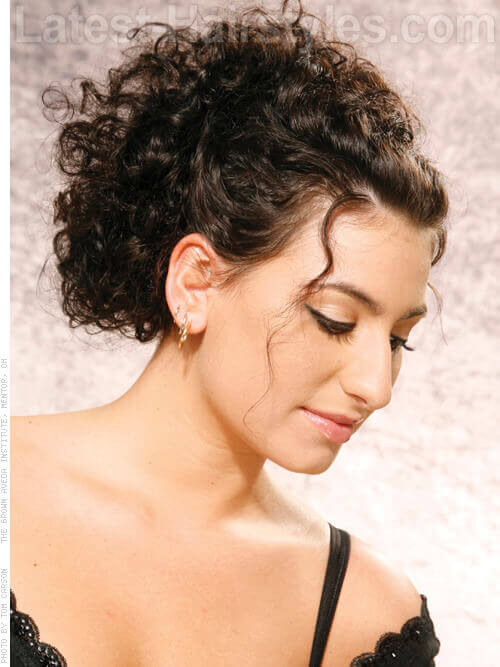 curled hair up styles 33 ridiculously easy diy chic updos 5119