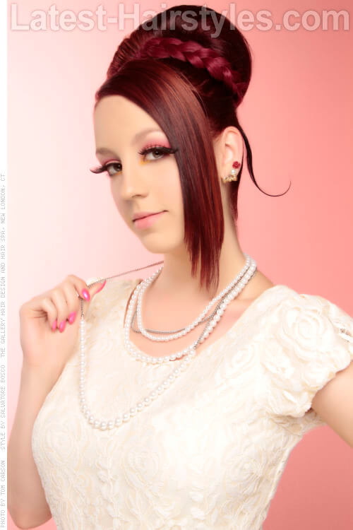 Princess Bun Updo with Braided Detail