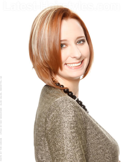 Short Brown Hair With Warm Caramel Tones