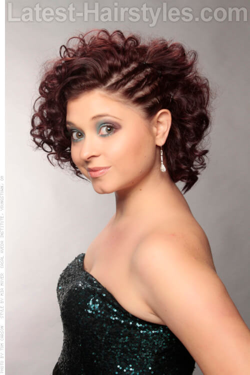 Short Cute Curly Hairstyle Side