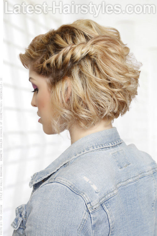 Short Fun Curly Hairstyle Side