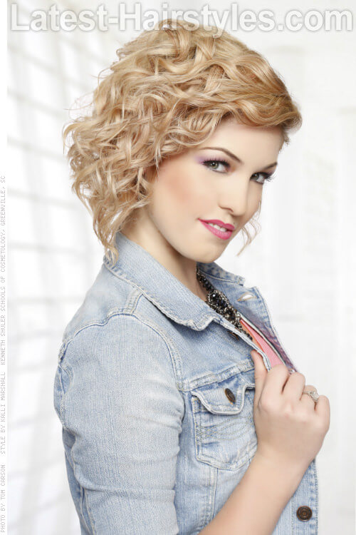 Short Fun Curly Hairstyle