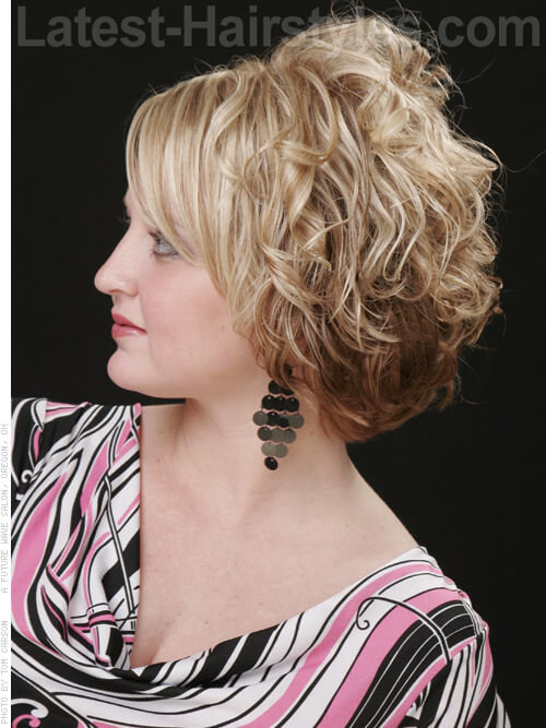 Short Naturally Curly Hairstyle Side
