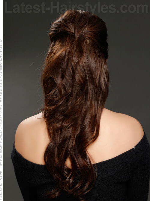Simple Pulled Back Up Do Back View