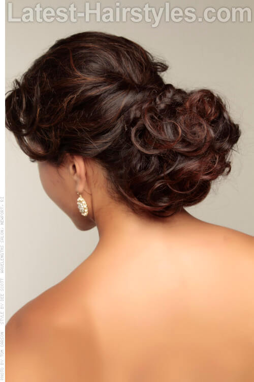 Soft Brown Hair Color with Subtle Highlights Back View