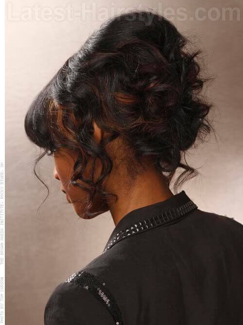 Up Style with Heavy Fringe Back View