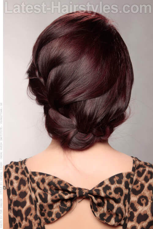 Wrap Around Braid Up Style Back View