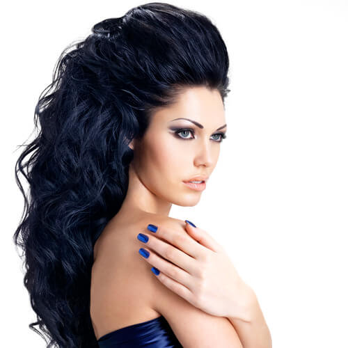 black hair dye with blue undertones impression hair style