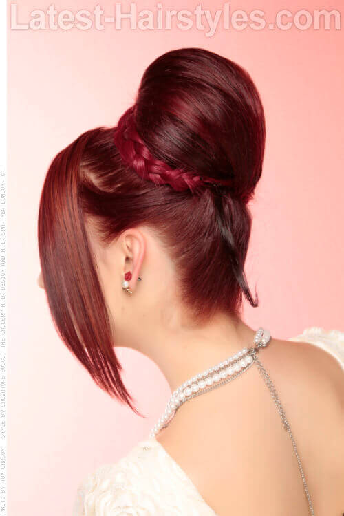 Braided Bun Hairstyle Side View