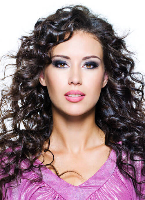 Long Hairstyle with Spiral Curls