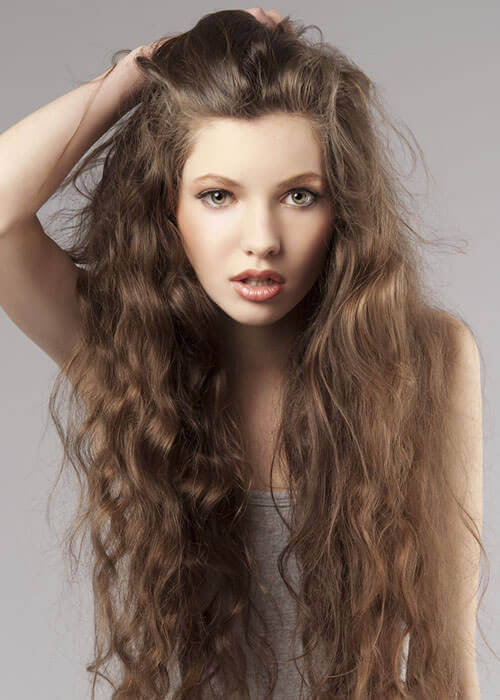 Ultra Lengthy Locks Stay Interesting Thanks To Movement And Volume From A  Combination Of Natural Waves And Curls.