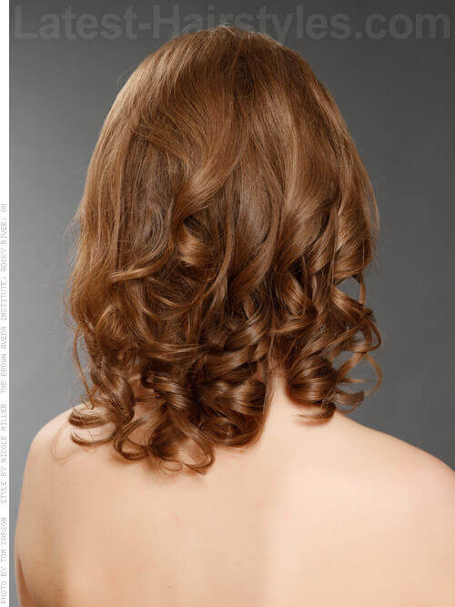 Medium length Hairstyle with Ringlets Back View