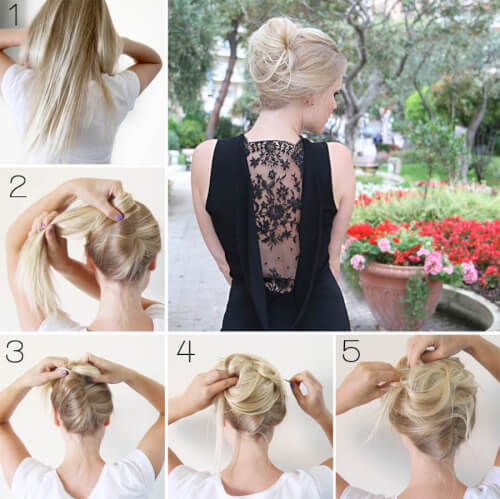 Messy French Twist Date Night Hair Tutorial