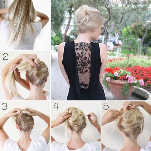 Messy French Twist Date Night Hair Tutorial