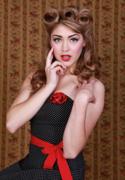 Decadent Pin Up Hairstyle with Curls