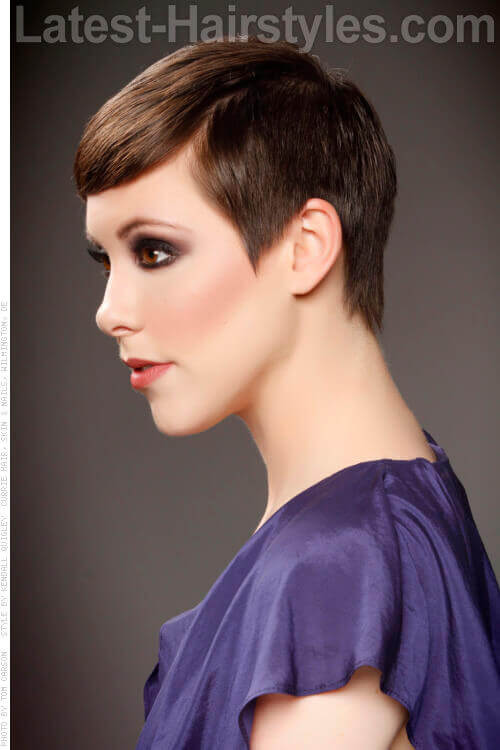 Polished Smooth Pixie Cut