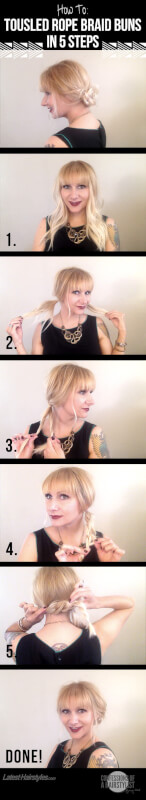 Rope Braid Bun Tutorial
