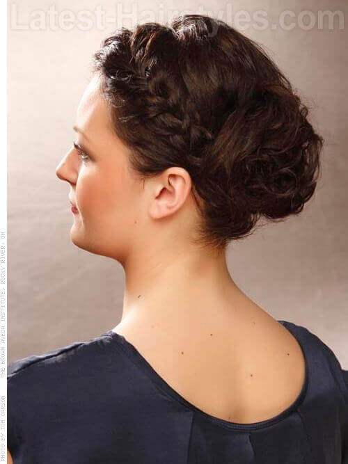 Side Braided Bun Hairstyle Side View