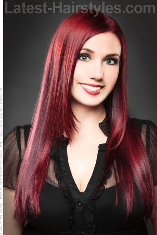 Sleek Shiny Long Hairstyle