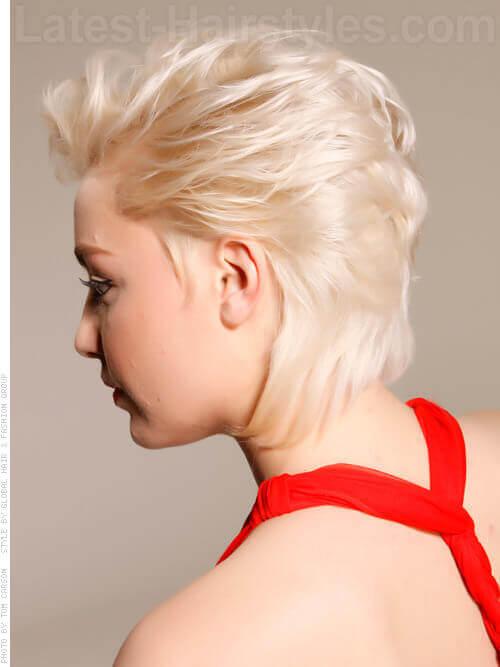 Soft Feminine Blonde Pixie Cut