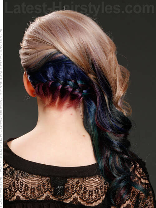 Stunning Low Braided Hairstyle Back View