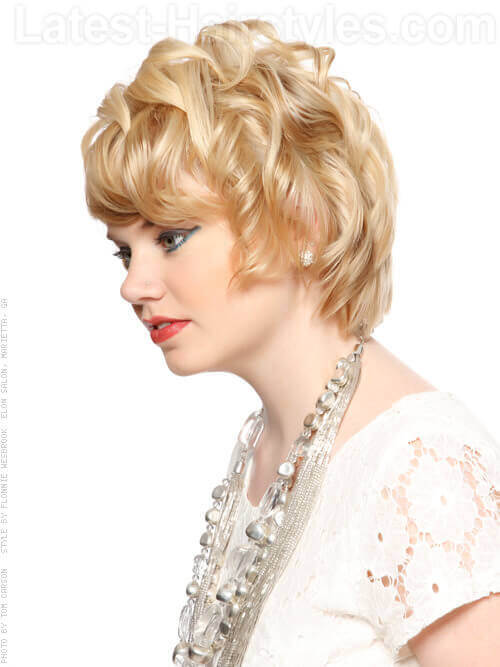 Magic Maven Long Blonde Beautiful Pixie Side View