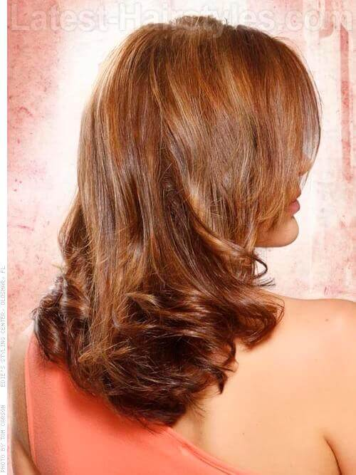 Strong Style Medium Wavy Look Back View
