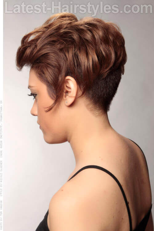 Undercut Cute Look for a Round Face Side View