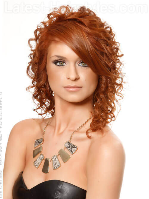 Voluminous Curls Red Style