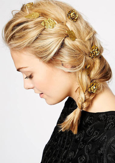 ASOS Pack of 8 Metallic Paper Flower Hair Grips