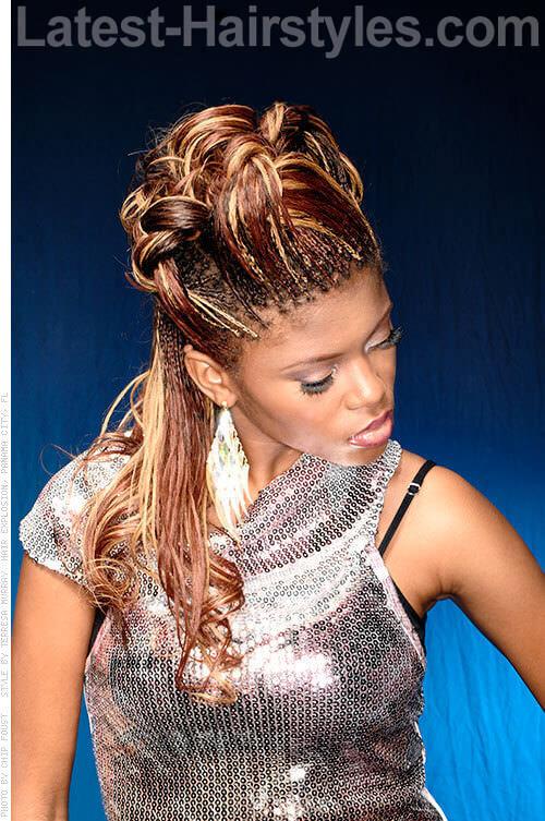 Beautiful Micro Braids Hairstyles Updos Photos - Styles & Ideas 2018 ...