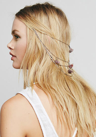 Chain & Feather Back Halo