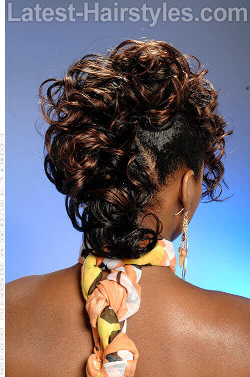 Cute Curly Mohawk for Spring Back