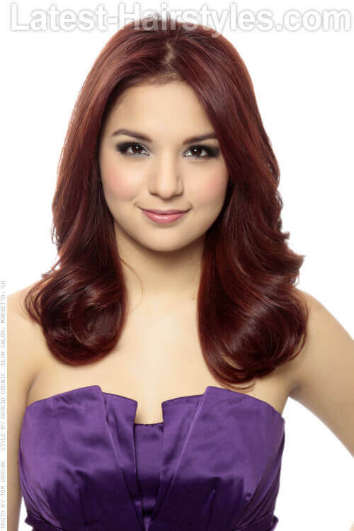 Deep Violet Haircolor with Depth