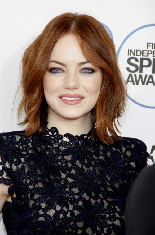 Emma Stone Long Bob with Organic Waves