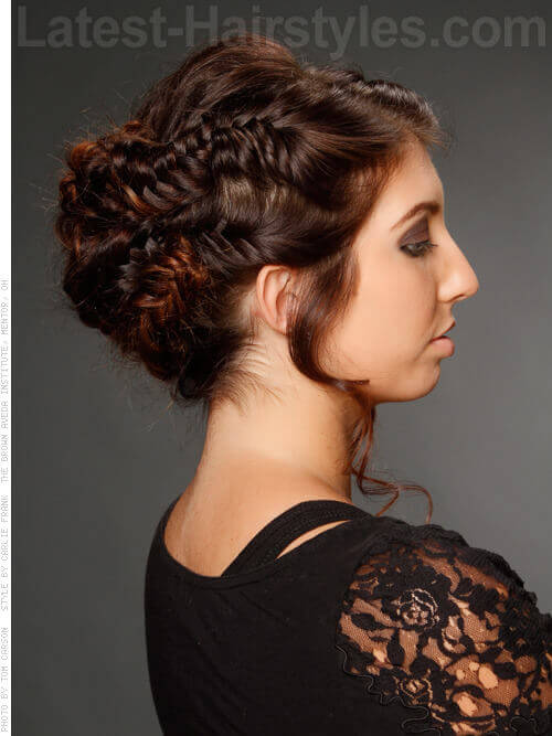 Fishtail Braid Hairstyle Idea for Prom