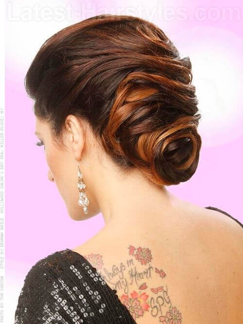 French Twist Updo for Prom Back View