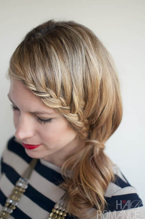 Hair Romance Lace Braid Ponytail Hairstyle