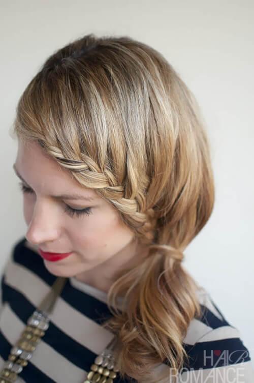Braiding Hair Into a Ponytail Hair Romance Lace Braid