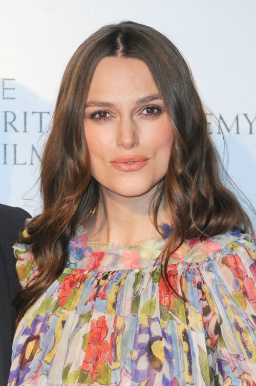 Keira Knightley Long Hairstyle with Waves